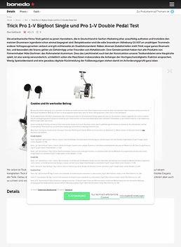 Trick Pro 1-V Bigfoot Single und Pro 1-V Double Pedal