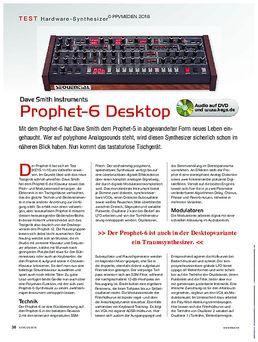 DSI Prophet 6 Desktop