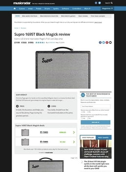 Supro 1695T Black Magick