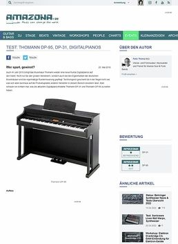 Test: Thomann DP-95, DP-31, Digitalpianos