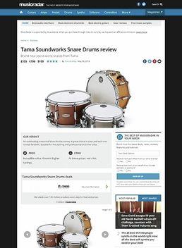 Tama Soundworks Snare Drums