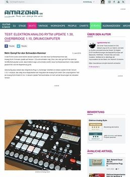 Test: Elektron Analog Rytm Update 1.30, Overbridge 1.10, Drumcomputer