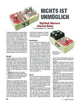 DigiTech Obscura Altered Delay, Effekt-Pedal