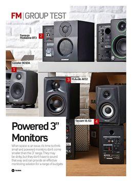 Genelec 8010A, Samson MediaOne BT3, M-Audio AV32, Tascam VL-S3, Mackie Creative Reference CR3, Eve Audio SC203