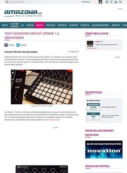 Test: Novation Circuit Update 1.2, Groovebox