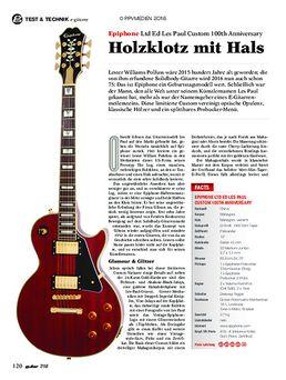 Epiphone Ltd Ed Les Paul Custom 100th Anniversary