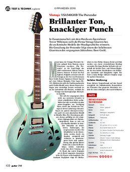 Vintage VSA540GHB The Pretender