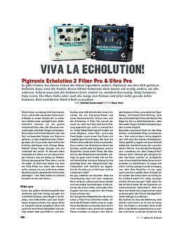 Pigtronix Echolution 2 Filter Pro & Ultra Pro, FX-Pedale