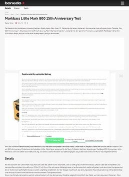Markbass Little Mark 800 15th Anniversary