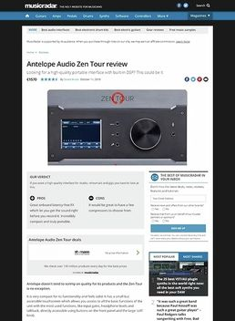 Antelope Audio Zen Tour