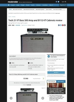 Tech 21 VT Bass 500 Amp and B112-VT Cabinets
