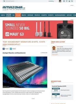 Test: Soundcraft Signature 22 MTK, Mischpult