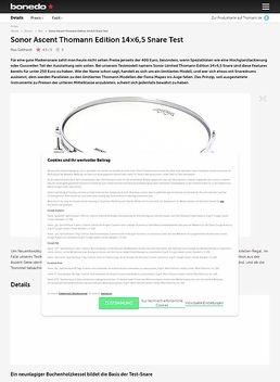 Sonor Ascent Thomann Edition 14x6,5 Snare
