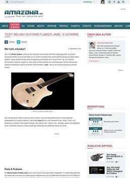 Relish Guitars Flamed Jane