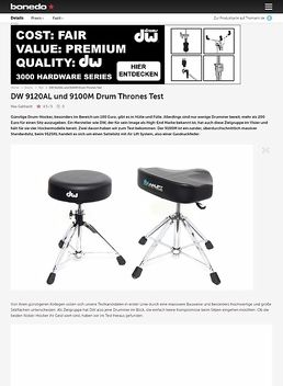 DW 9120AL und 9100M Drum Thrones