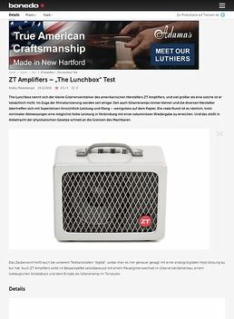 "ZT Amplifiers – ""The Lunchbox"""