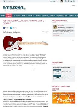 Fender Deluxe Tele Thinline CAR