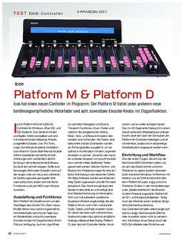 Icon Platform M und D