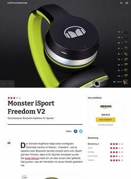 Monster iSport Freedom V2 Black/Green