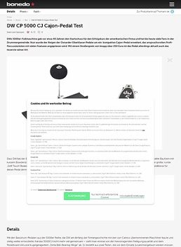 DW CP 5000 CJ Cajon-Pedal