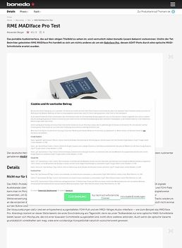 RME MADIface Pro Test
