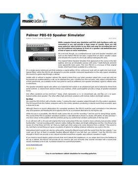 Palmer PDI-03 Speaker Simulator