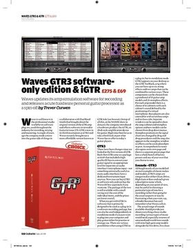 Waves GTR3 Software Edition