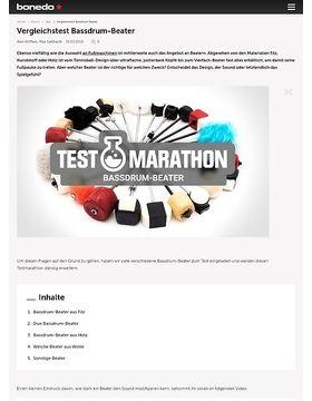 Testmarathon Bassdrum-Beater