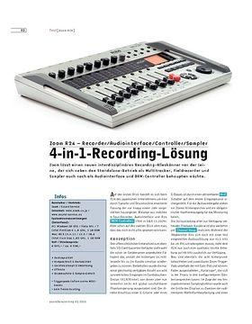 Zoom R24 – Recorder/Audiointerface/Controller/Sampler