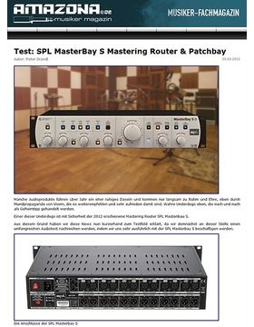 Top News: SPL Analog Elemental Series, MasterBay S - The S-Class Patchbay