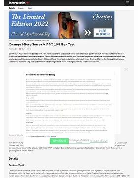 Orange Micro Terror & PPC 108 Box Test