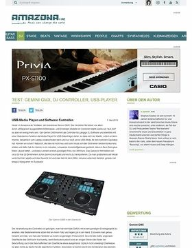 Test: Gemini GMX, DJ Controller, USB-Player