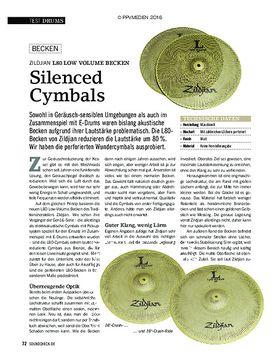 Zildjian L80 Low Volume Becken