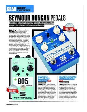 Seymour Duncan 805 Overdrive, Catalina Chorus, Palladium Gain Stage and Vise Grip Compressor