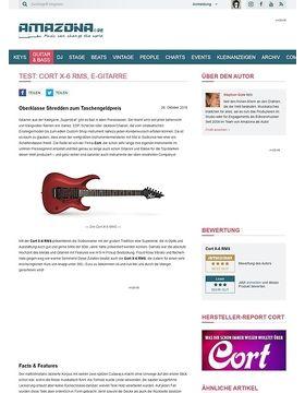 Test: Cort X-6 RMS, E-Gitarre