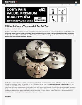 Zildjian A-Custom Thomann ltd. Cymbal Set