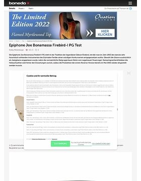 Epiphone Joe Bonamassa Firebird-I PG