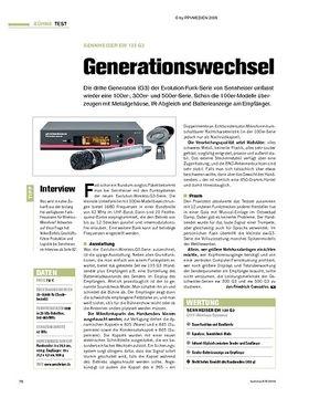 Test: Sennheiser ew 135 G3 - Generationswechsel