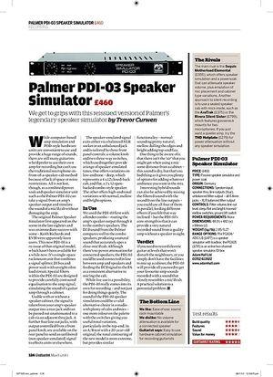 Guitarist Palmer PDI03 Speaker Simulator