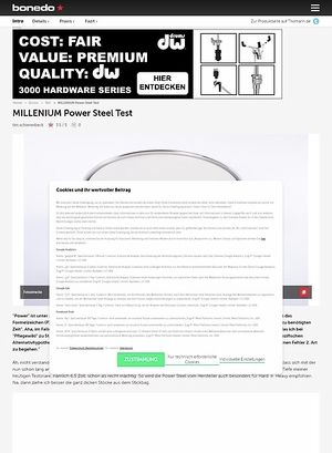 Bonedo.de Millenium Power Steel