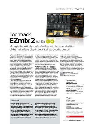Computer Music Toontrack EZmix 2