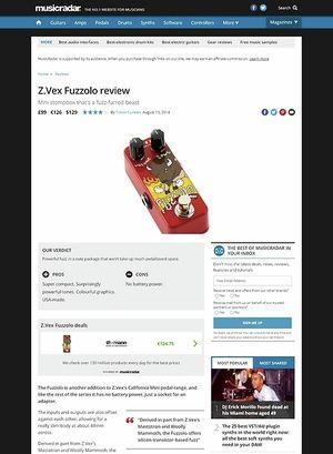 MusicRadar.com Z.Vex Fuzzolo