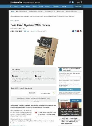 MusicRadar.com Boss AW-3 Dynamic Wah
