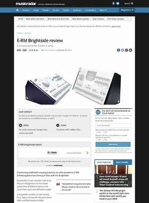MusicRadar.com E-RM Brightside