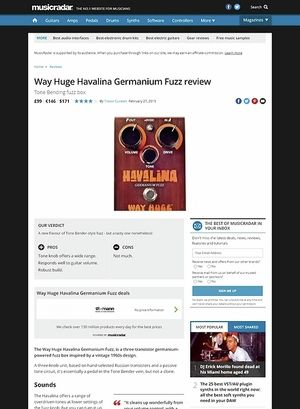 MusicRadar.com Way Huge Havalina Germanium Fuzz