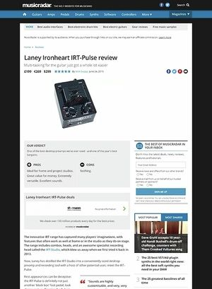MusicRadar.com Laney Ironheart IRT-Pulse