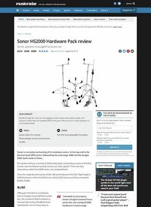 MusicRadar.com Sonor HS2000 Hardware Pack