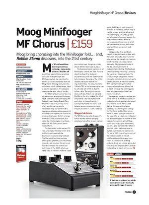 Future Music Moog Minifooger MF Chorus