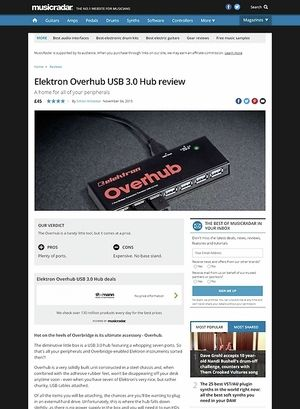 MusicRadar.com Elektron Overhub USB 3.0 Hub