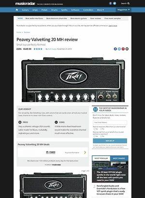 MusicRadar.com Peavey ValveKing 20 MH